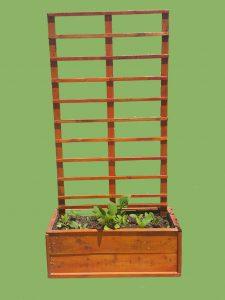 Reghoekige Plantbak met trellis